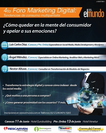 4to. FORO MARKETING DIGITAL  11 y 13 de junio