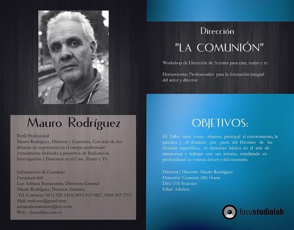 WORKSHOP DE DIRECCIÓN DE ACTORES con Mauro Rodríguez