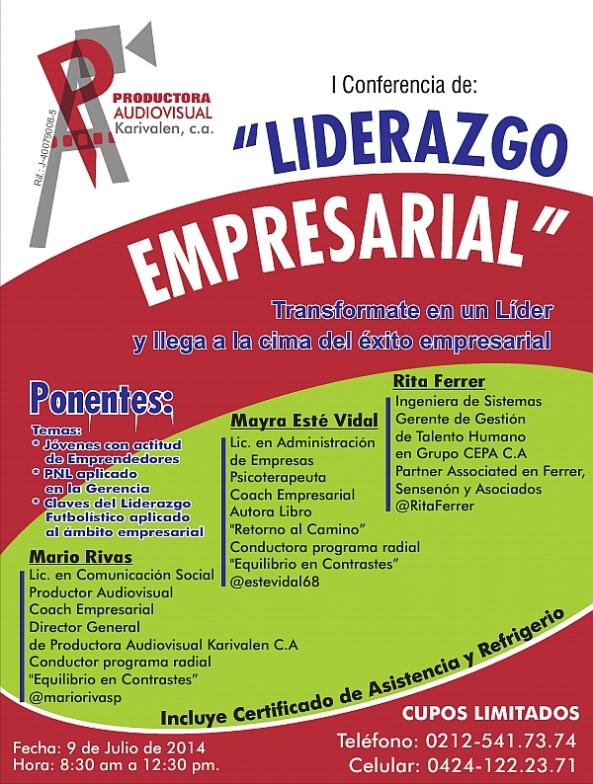 "I CONFERENCIA DE ""LIDERAZGO EMPRESARIAL"""