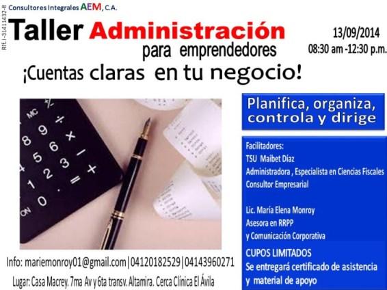 Taller de administración para emprendedores