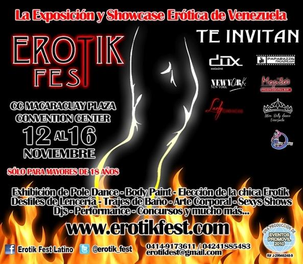#erotismo ¿Quieres mas información sobre EROTIK FEST 2014 en #Caracas? Llámanos al (212)3726412