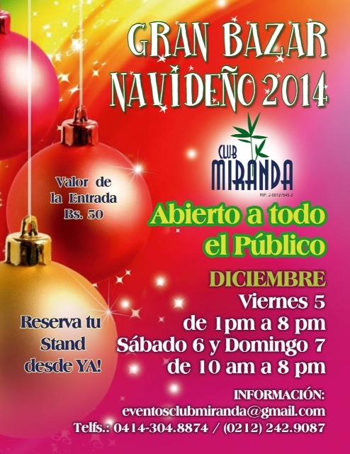 GRAN BAZAR NAVIDEÑO 2014 Club Miranda
