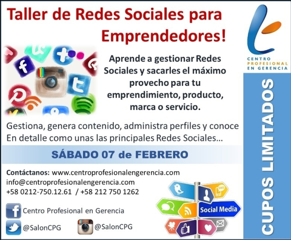 CPG Flyer Taller Redes Emprendedores CPG