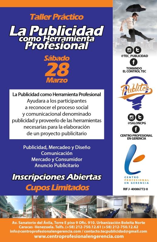 Flyer La Publicidad como Herramienta Profesional 800px