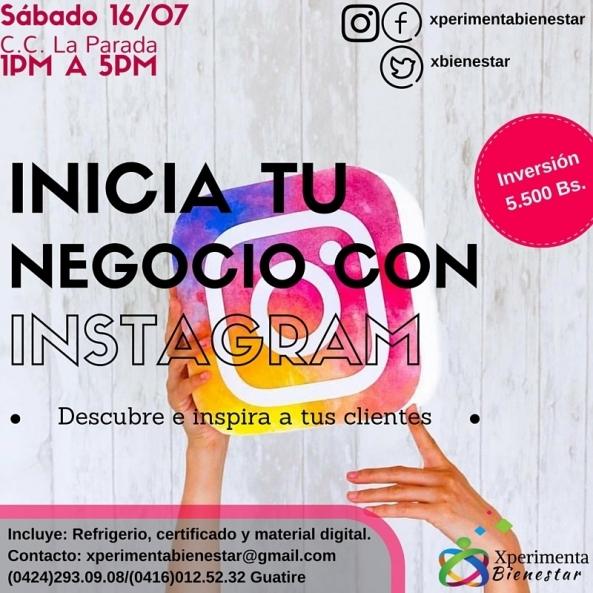 Taller Inicia tu negocio con instagram 800px