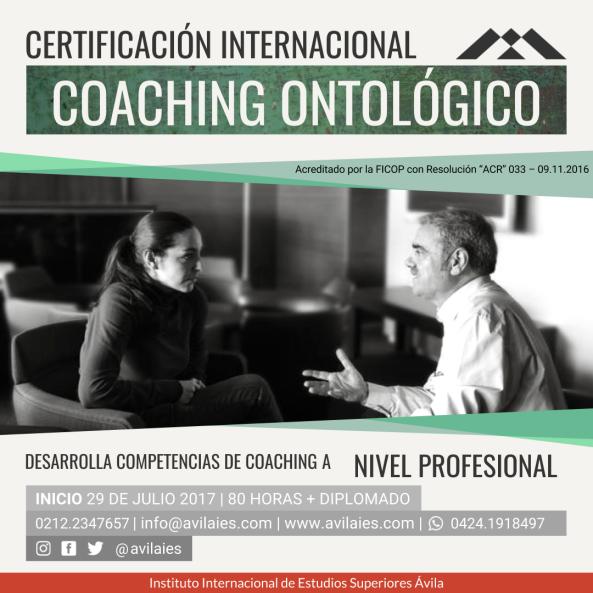 Certificación coaching ontológico julio
