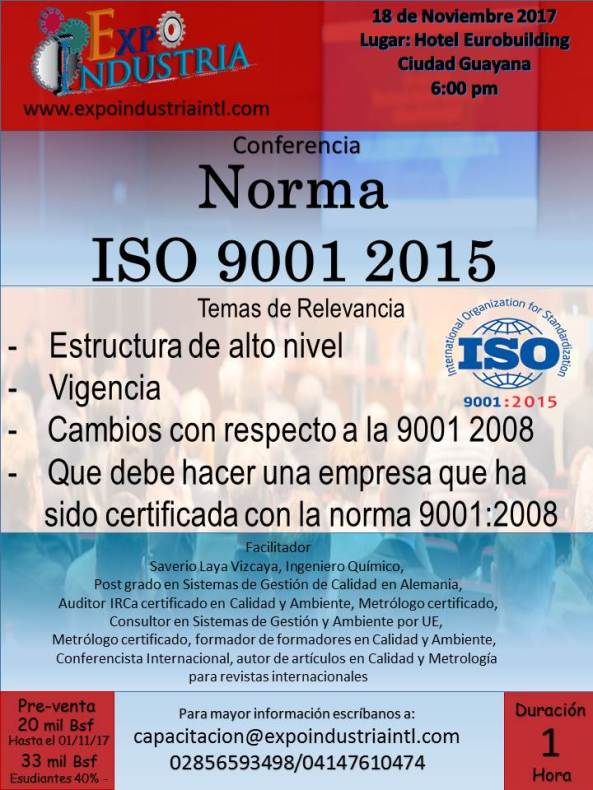 Expo Industria Conferencia Norma Iso 9001-2015
