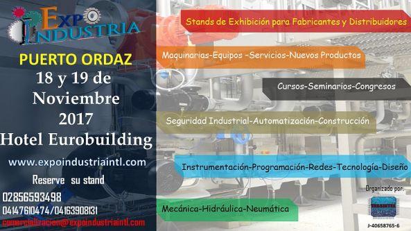 Expo Industria Puerto Ordaz 2017 poster 1024x576px
