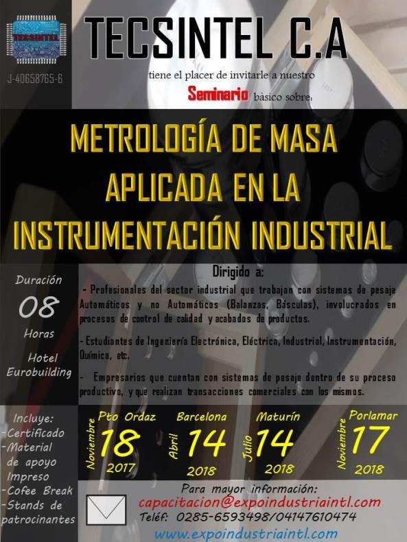 Expo Industria Seminario de Metrología