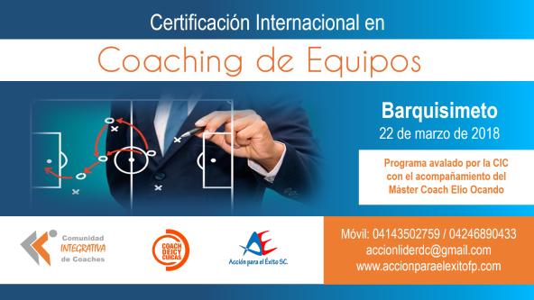 coaching de equipos 2 Barquisimeto 2018